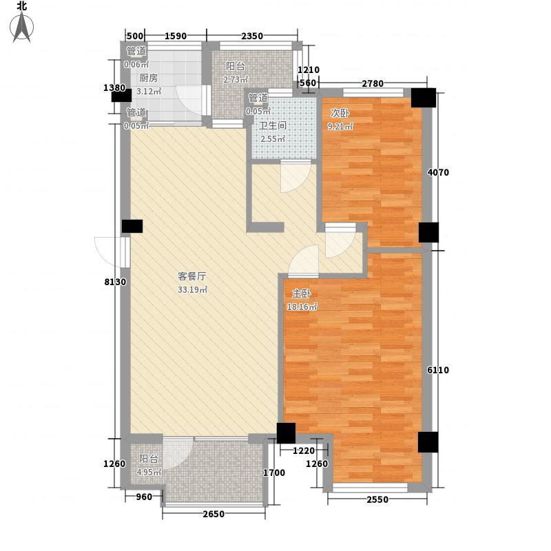 三隆碧桂园92.50㎡三隆碧桂园户型图2室2厅1卫户型10室