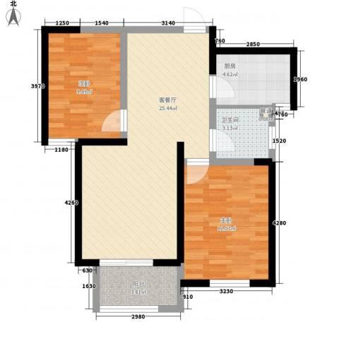 诚德盛世原著2室1厅1卫1厨85.00㎡户型图