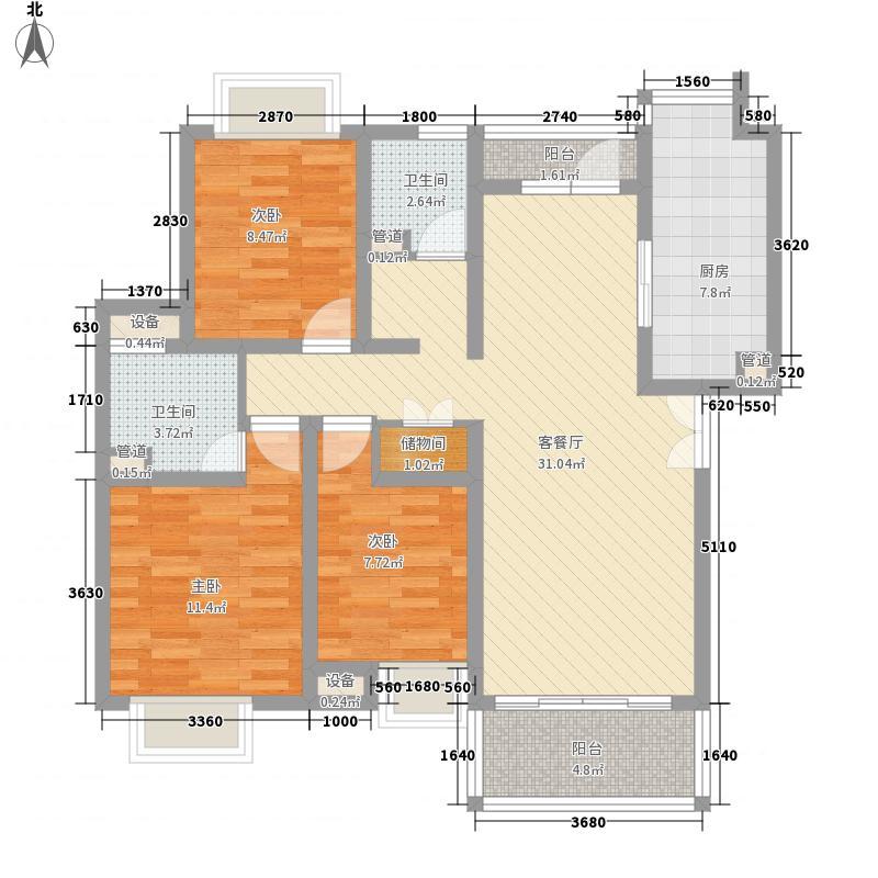 三盛颐景园121.00㎡三盛颐景园3室户型3室