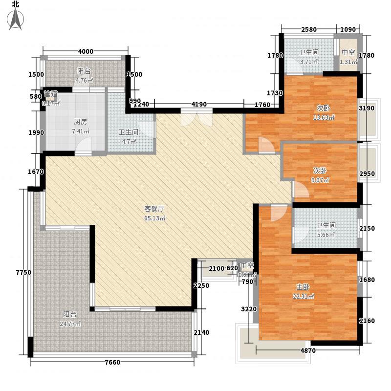 华发世纪城21.00㎡一期户型5室