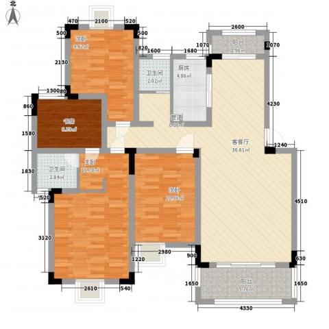 水榭山4室1厅2卫1厨142.00㎡户型图