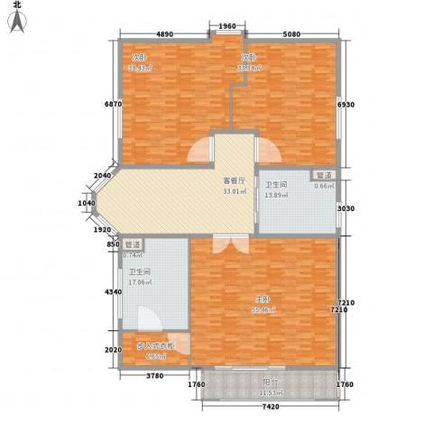 圣美邸3室1厅2卫0厨288.00㎡户型图