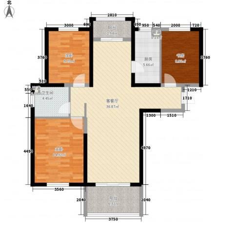 诚德盛世原著3室1厅1卫1厨128.00㎡户型图