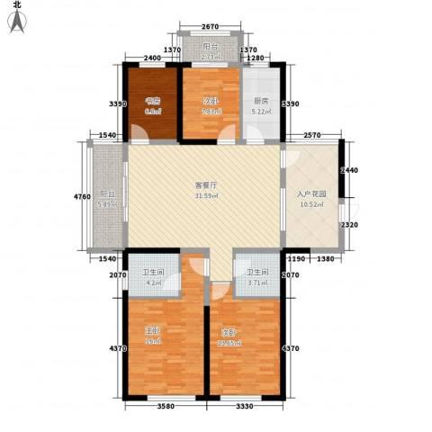 诚德盛世原著4室1厅2卫1厨155.00㎡户型图