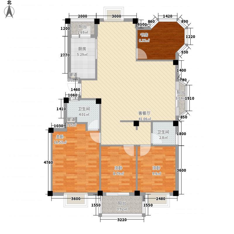 金辉莱茵城125.07㎡金辉莱茵城户型图3室2厅2卫1厨户型10室