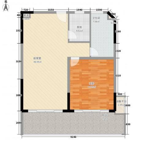博鳌宝莲城1室0厅1卫1厨117.00㎡户型图