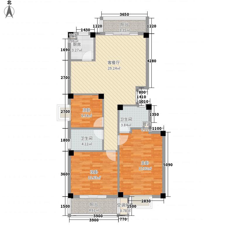 金辉莱茵城104.54㎡金辉莱茵城户型图3室2厅2卫1厨户型10室