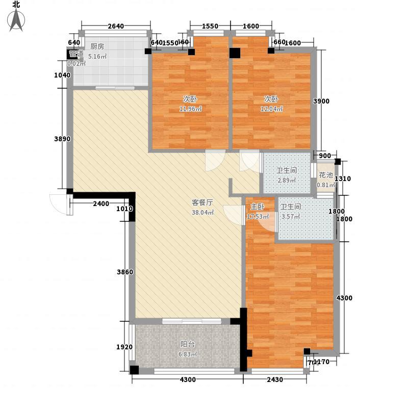 东方豪庭112.00㎡8#、9#楼E户型3室2厅2卫1厨