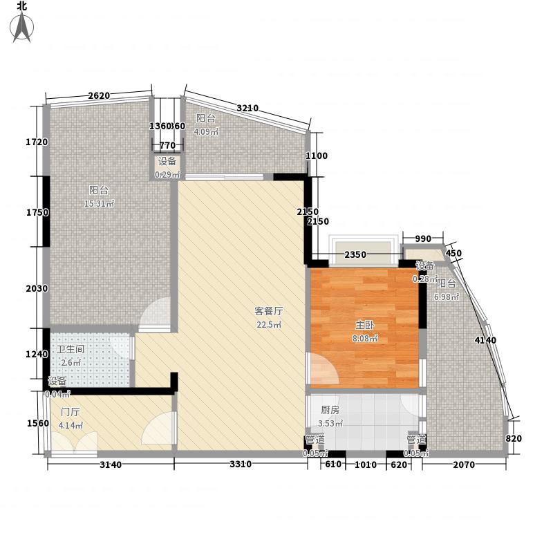 半岛花园94.00㎡半岛花园户型图02户型1室2厅1卫户型1室2厅1卫