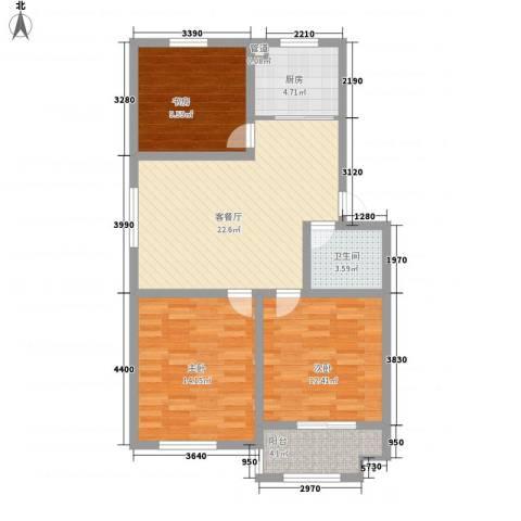 恒信西江月3室1厅1卫1厨103.00㎡户型图