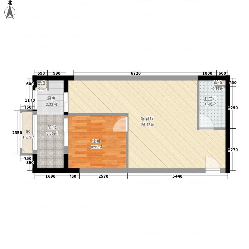 源升福尚咖啡公寓67.38㎡P型意面积6738m户型