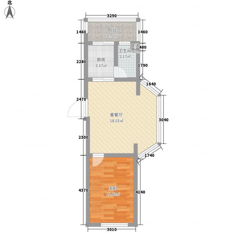 后林新村58.89㎡后林新村户型图9、17、18号楼1室1厅1卫户型1室1厅1卫