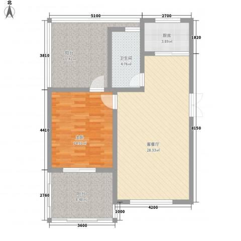 映象西班牙1室1厅1卫1厨70.89㎡户型图