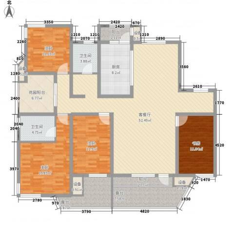 名流公馆4室1厅2卫1厨156.00㎡户型图