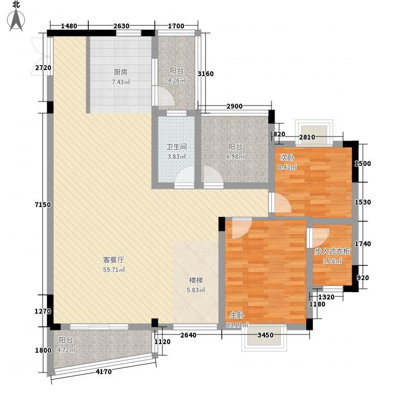 中房翡翠园210.08㎡C22栋儒林阁D+户型上层户型4室2厅3卫1厨