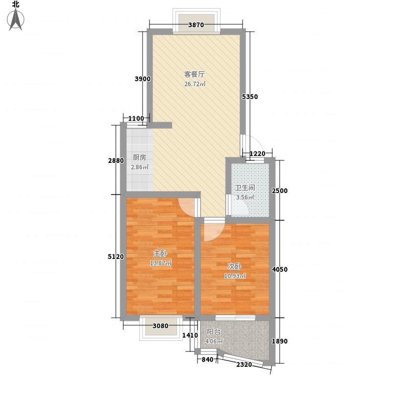 山水城85.00㎡山水城户型图C户型2室2厅户型2室2厅