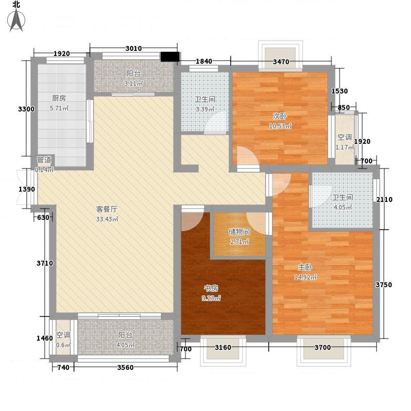 恒盛尚海湾135.00㎡恒盛尚海湾户型图1#楼B4户型3室2厅2卫1厨户型3室2厅2卫1厨