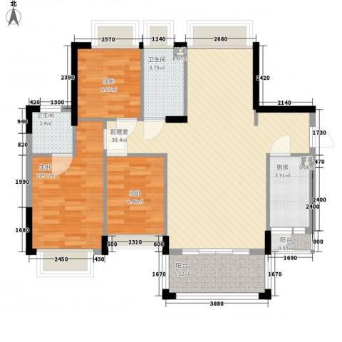 雍景豪园3室0厅2卫1厨100.00㎡户型图