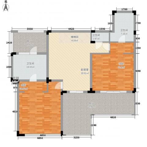 中信香水湾2室0厅3卫0厨130.73㎡户型图