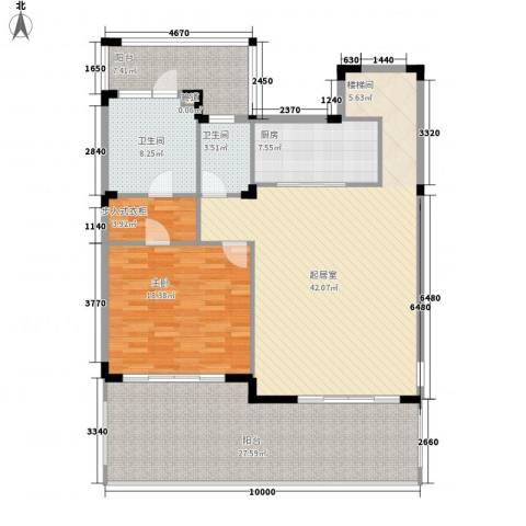 中信香水湾1室0厅2卫1厨118.74㎡户型图