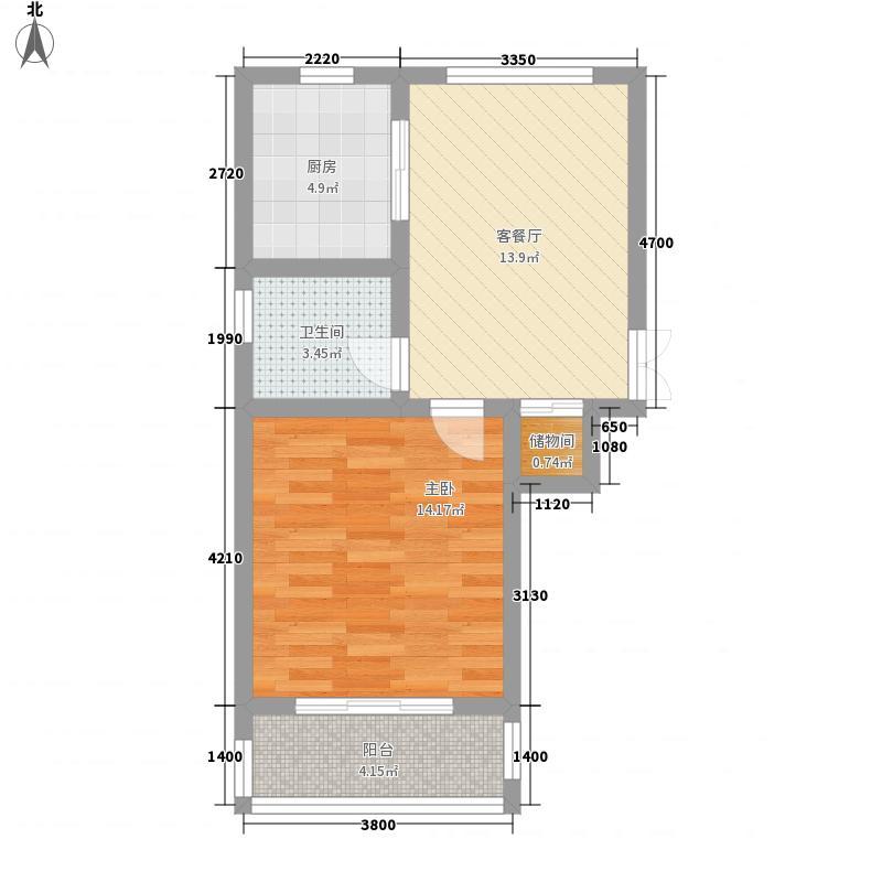 奉德苑61.00㎡奉德苑户型图I1户型1室1厅1卫1厨户型1室1厅1卫1厨