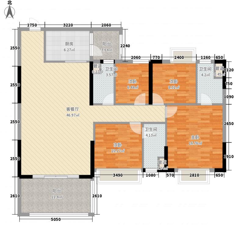 松鹤国际新城157.70㎡c2-1/c1-2户型4室2厅3卫1厨