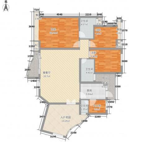 盛世华南3室1厅3卫1厨163.00㎡户型图