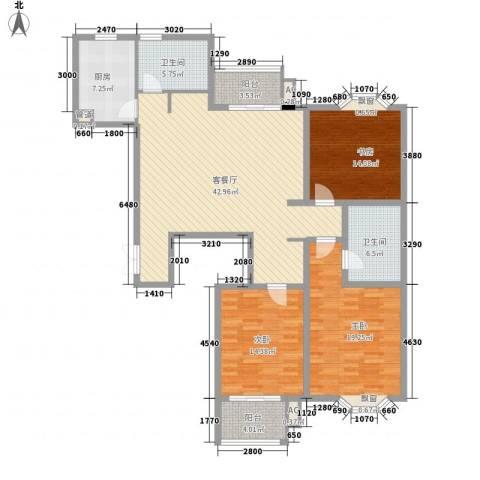 澜郡3室1厅2卫1厨169.00㎡户型图