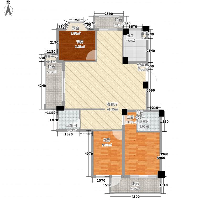 罗马象湖壹号141.50㎡30#楼A户型3室2厅2卫1厨