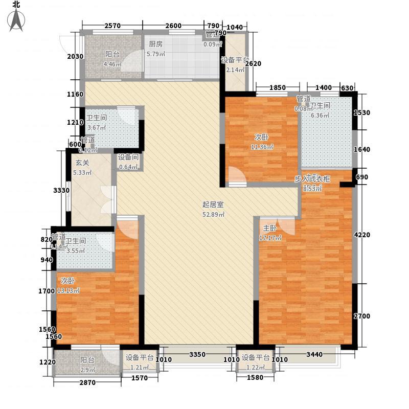 金地名京160.00㎡金地名京户型图15#户型3室2厅3卫户型3室2厅3卫