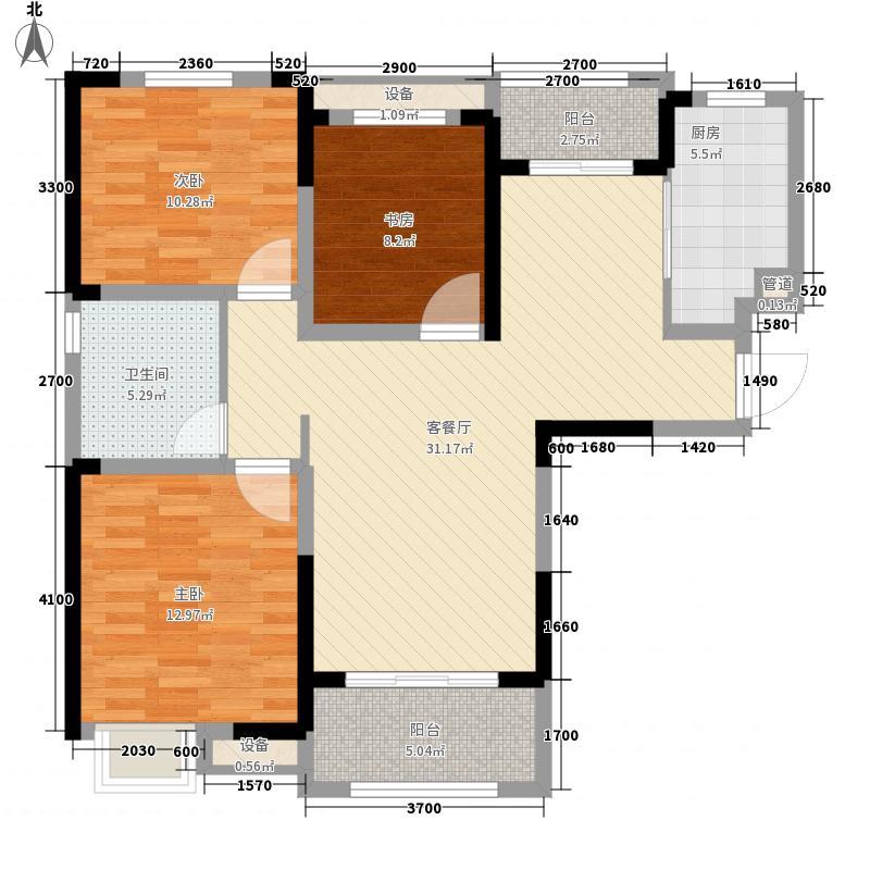 华润橡树湾115.00㎡华润橡树湾户型图二期G5户型3室2厅1卫1厨户型3室2厅1卫1厨