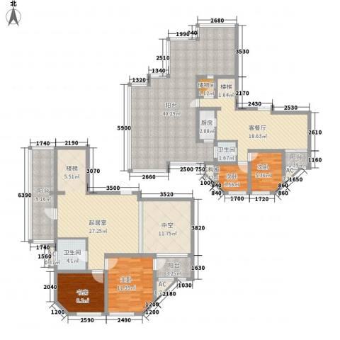 澜郡4室1厅2卫1厨220.00㎡户型图