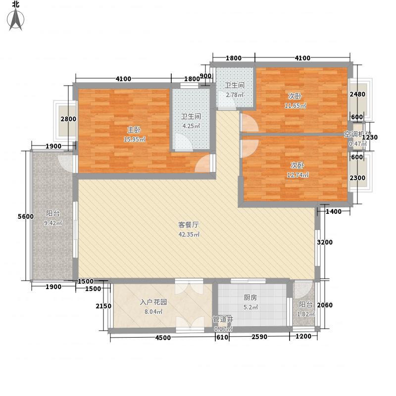 南山高地133.71㎡17、19栋C、D户型3室2厅2卫1厨