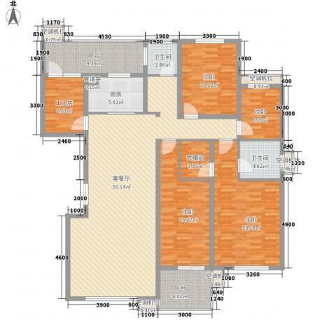 漪汾苑4室1厅2卫1厨349.00㎡户型图