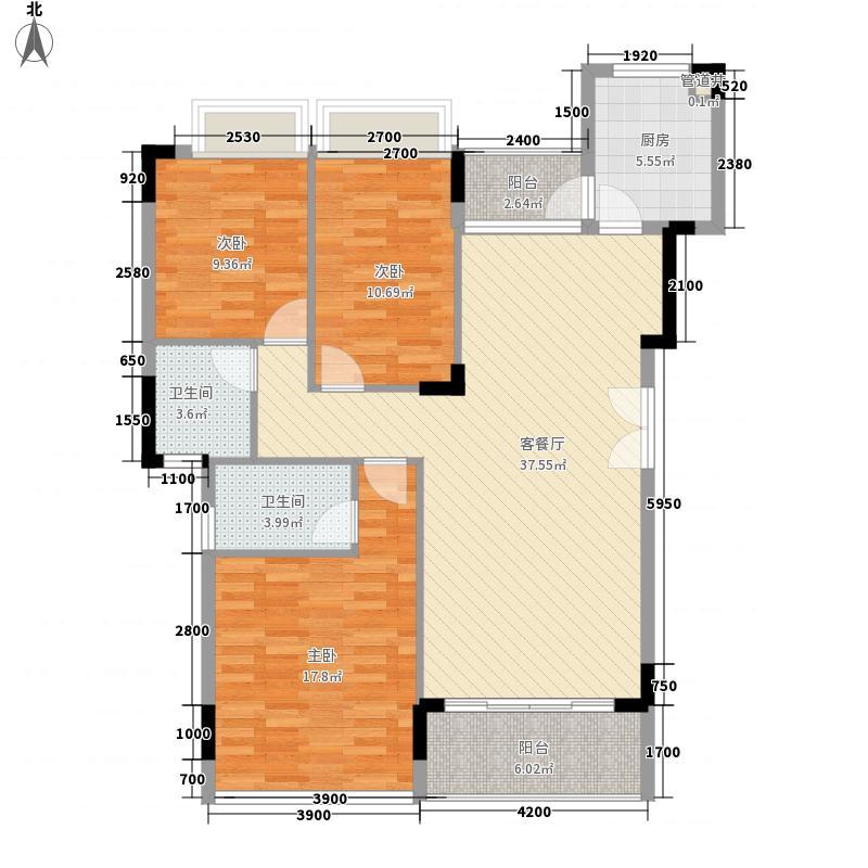 金地格林小城119.00㎡金地格林小城3室2厅户型3室2厅