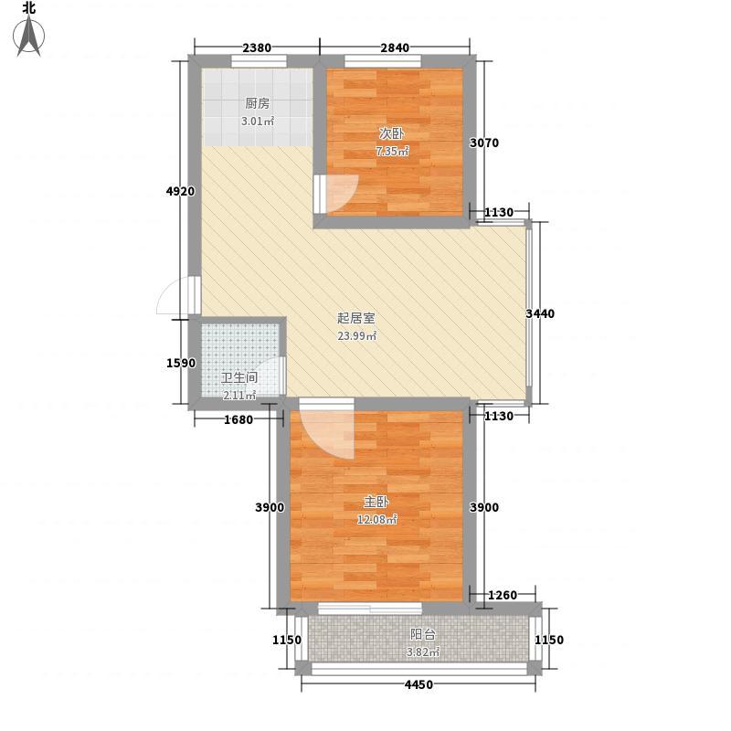 江南印象71.00㎡江南印象户型图71-782室2厅户型2室2厅