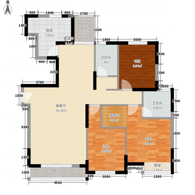 锦绣姜城137.60㎡户型3室2厅2卫
