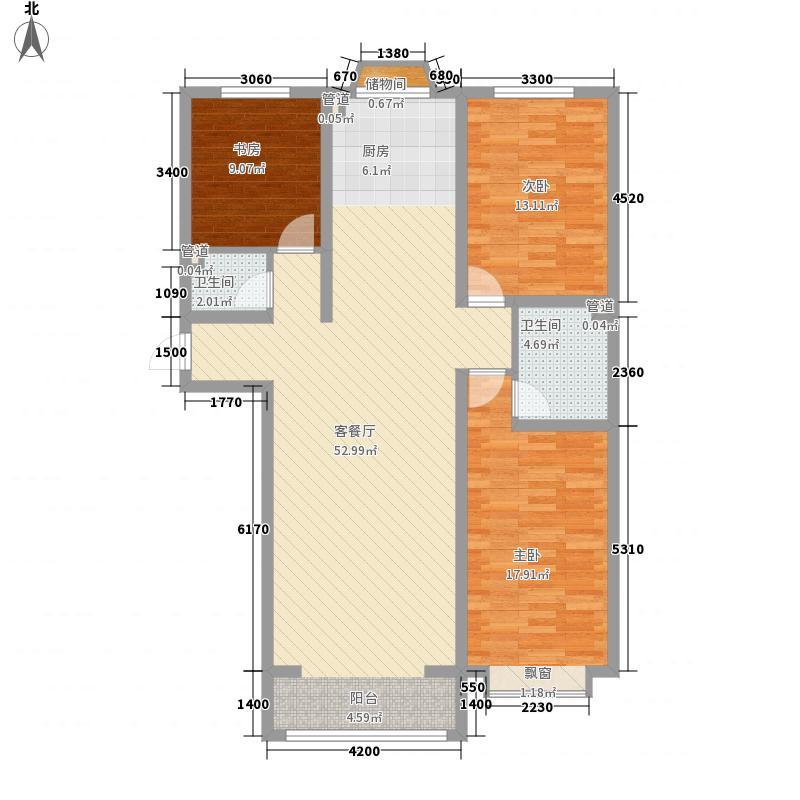 公元大道124.61㎡公元大道户型图户型图F13室2厅2卫1厨户型3室2厅2卫1厨