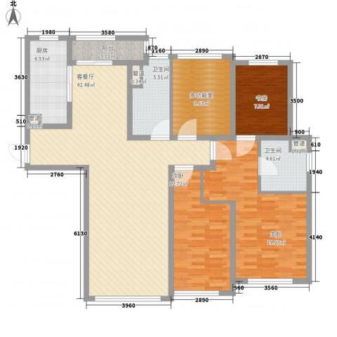 公馆773室1厅2卫1厨163.00㎡户型图