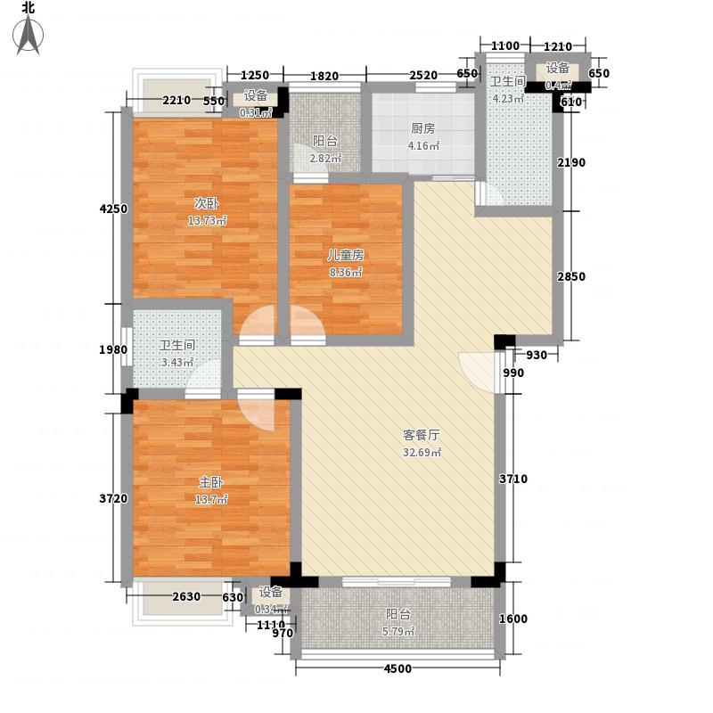 江上御都111.00㎡A/B户型3室2厅2卫1厨