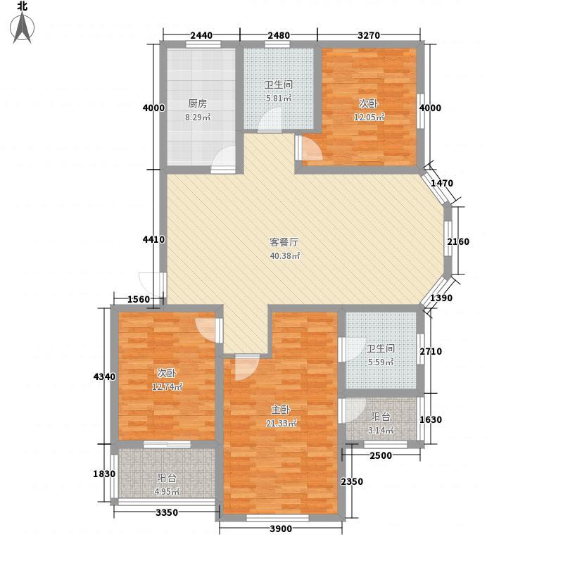 国秀家园136.20㎡NK2双卫户型3室2厅2卫1厨