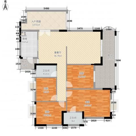 银信花园4室1厅2卫1厨159.00㎡户型图