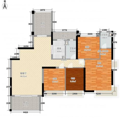 合正上东国际4室1厅2卫1厨184.00㎡户型图