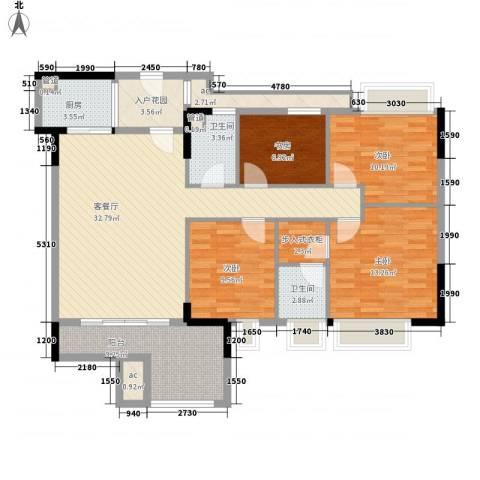 时富城东世家4室1厅2卫1厨122.00㎡户型图