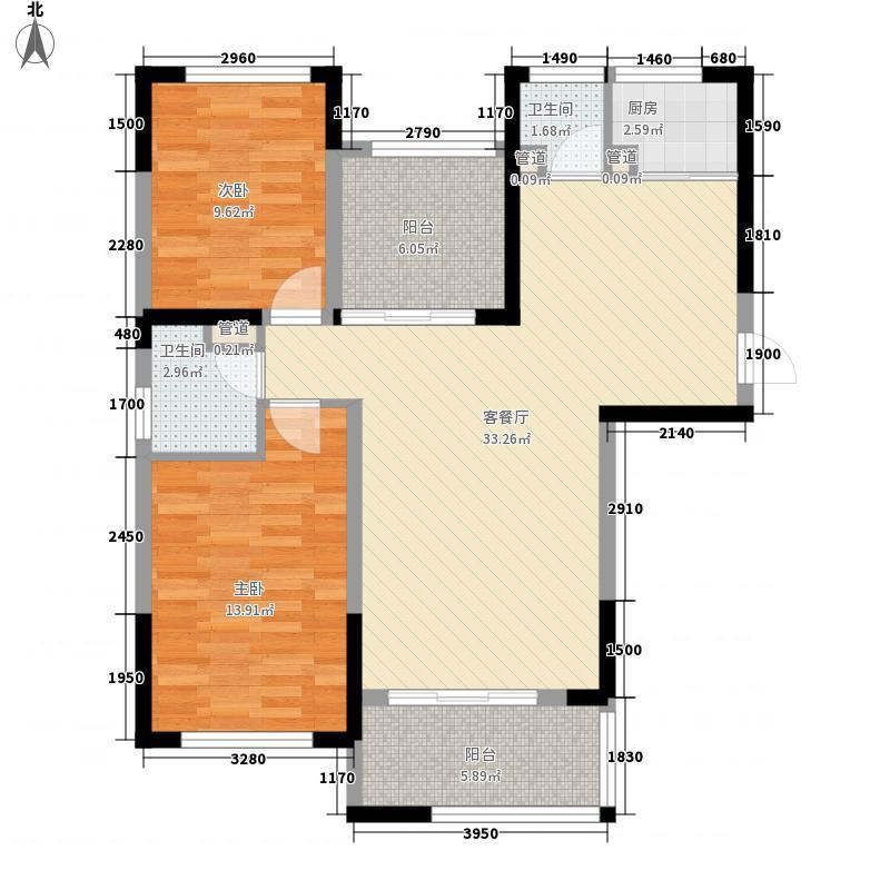 翡翠云天3室2厅户型3室2厅2卫1厨