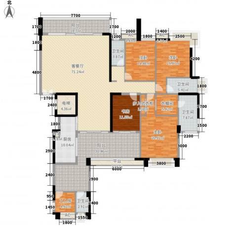 五洲花城二期4室1厅4卫1厨320.00㎡户型图