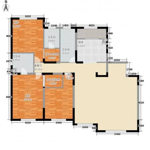 哈佛特区项目3室1厅3卫0厨173.48㎡户型图
