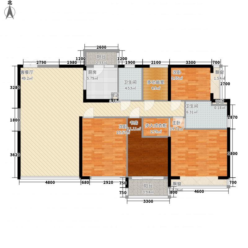 恒虹世纪广场18.70㎡3栋02户型5室2厅2卫1厨