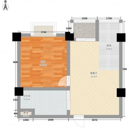 十七街区1室1厅1卫0厨65.00㎡户型图