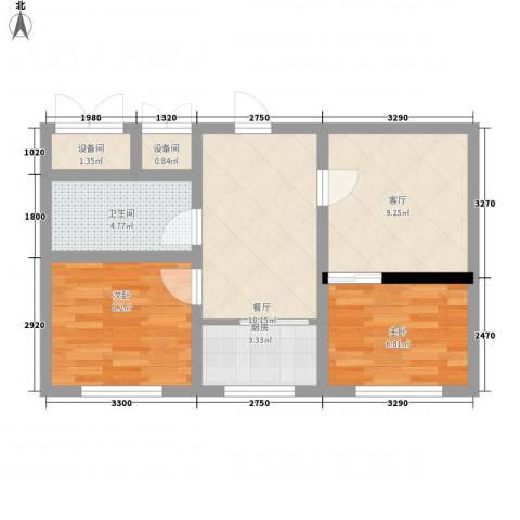 金色佳圆2室2厅1卫1厨67.00㎡户型图
